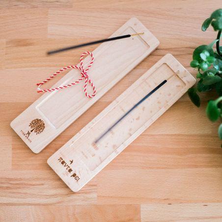 Suport din lemn masiv pentru bețișoare parfumate
