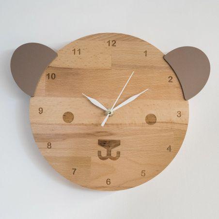 Ursulică - ceas pentru camera copiilor, vedere frontală
