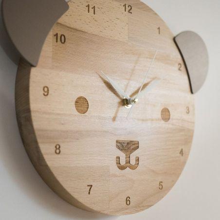Ursulică - ceas pentru camera copiilor, vedere laterală