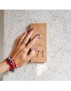 Numere personalizate din lemn, pentru casă